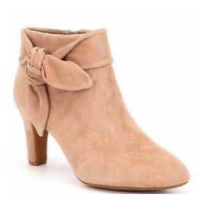 Alex Marie Suede Bow Ankle Bootie Size 7.5